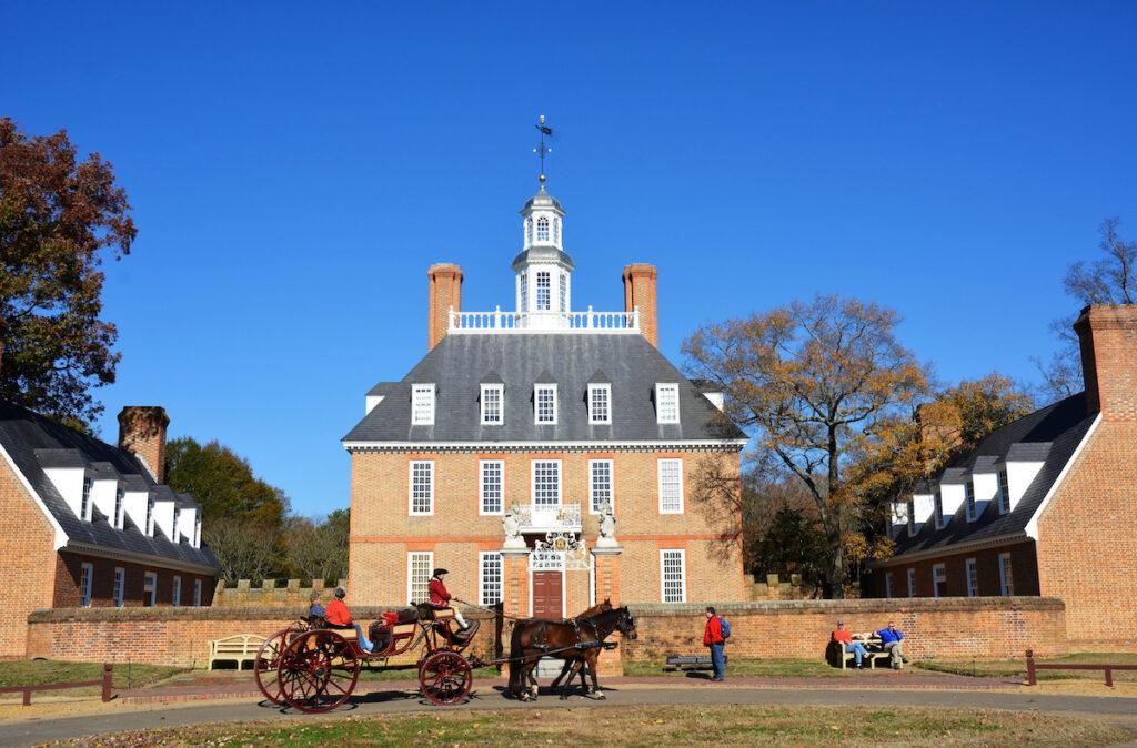 Colonial Williamsburg in Virginia.
