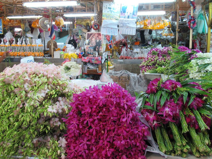 Colorful bouquets at the Flower Market.