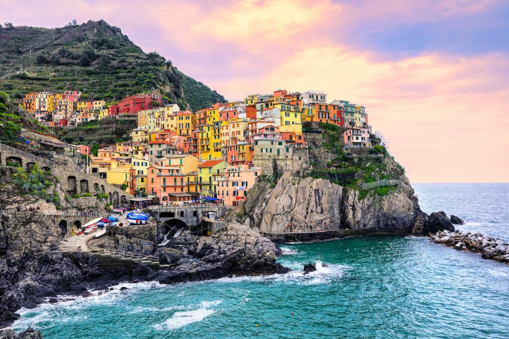 Colorful buildings in Cinque Terre, Italy.