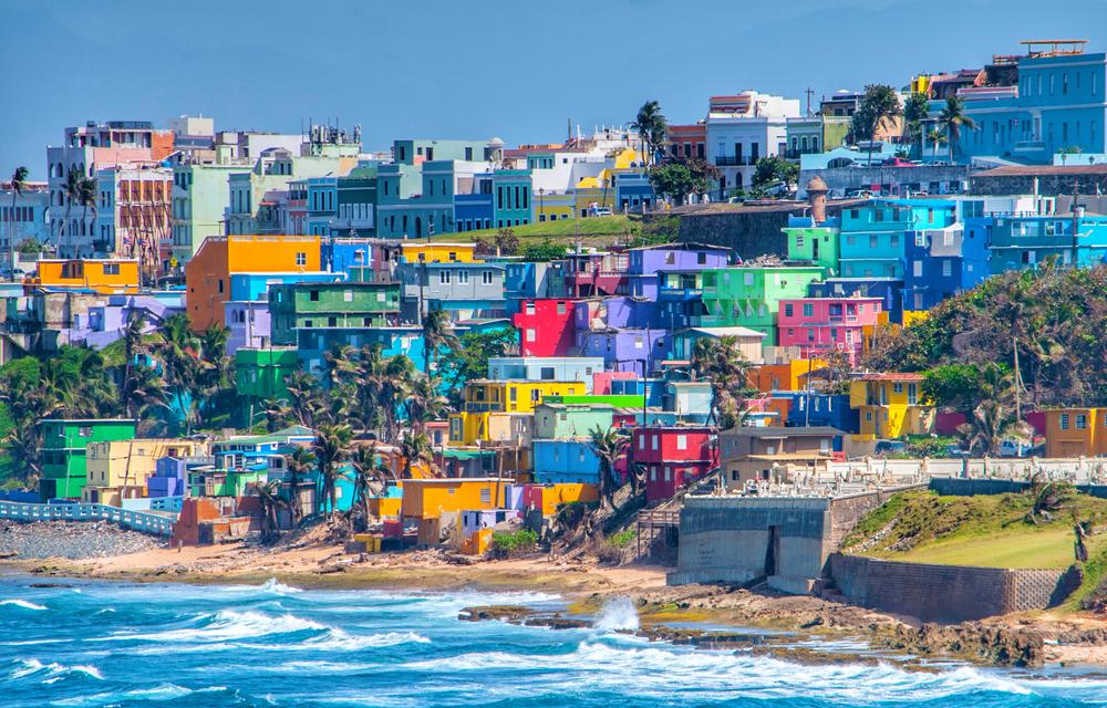 Colorful buildings in San Juan, Puerto Rico.