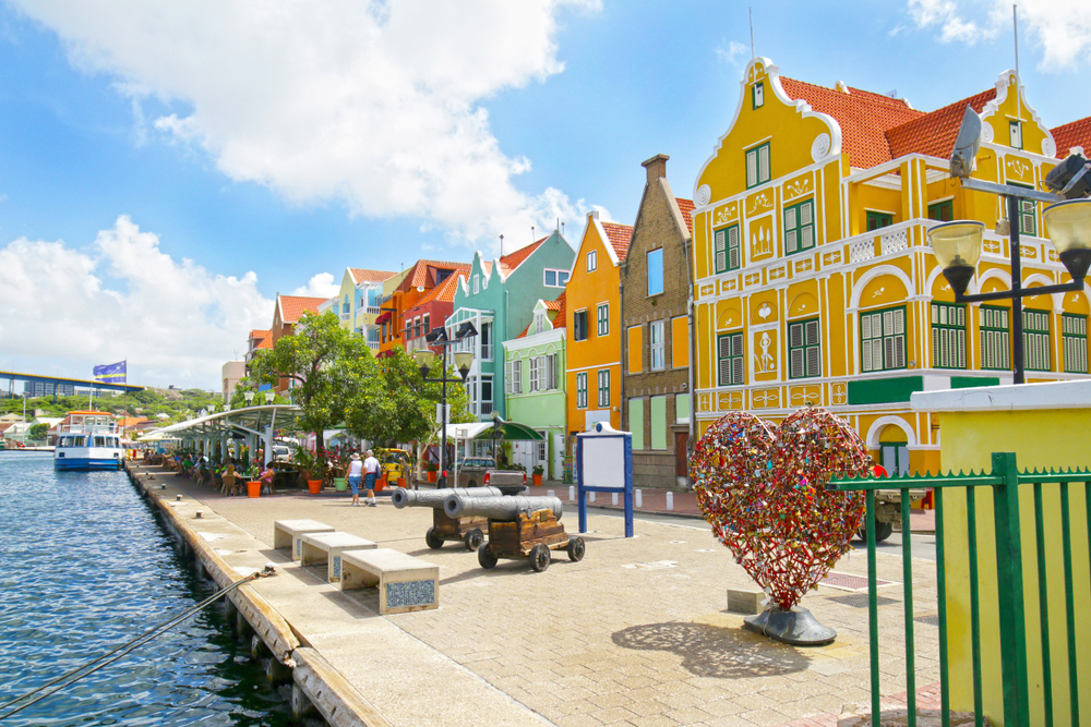 Colorful buildings, Willemstad, Curacao.