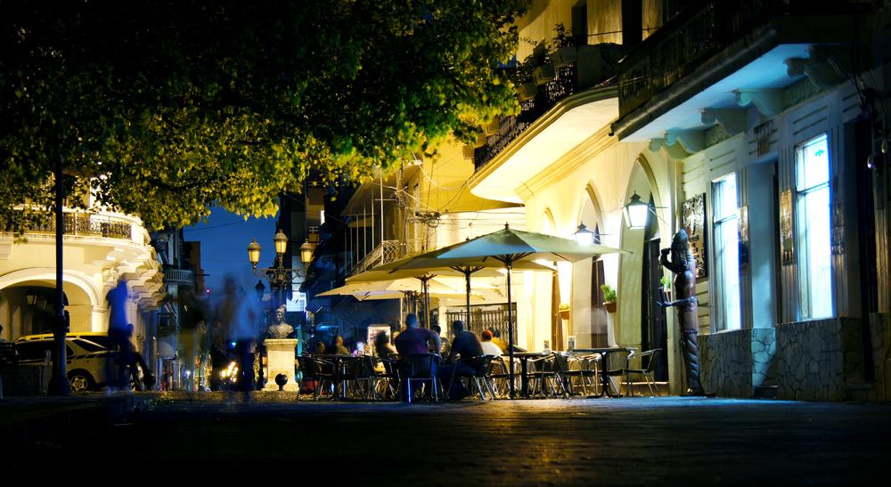 Colorful dining, Santo Domingo, Dominican Republic.