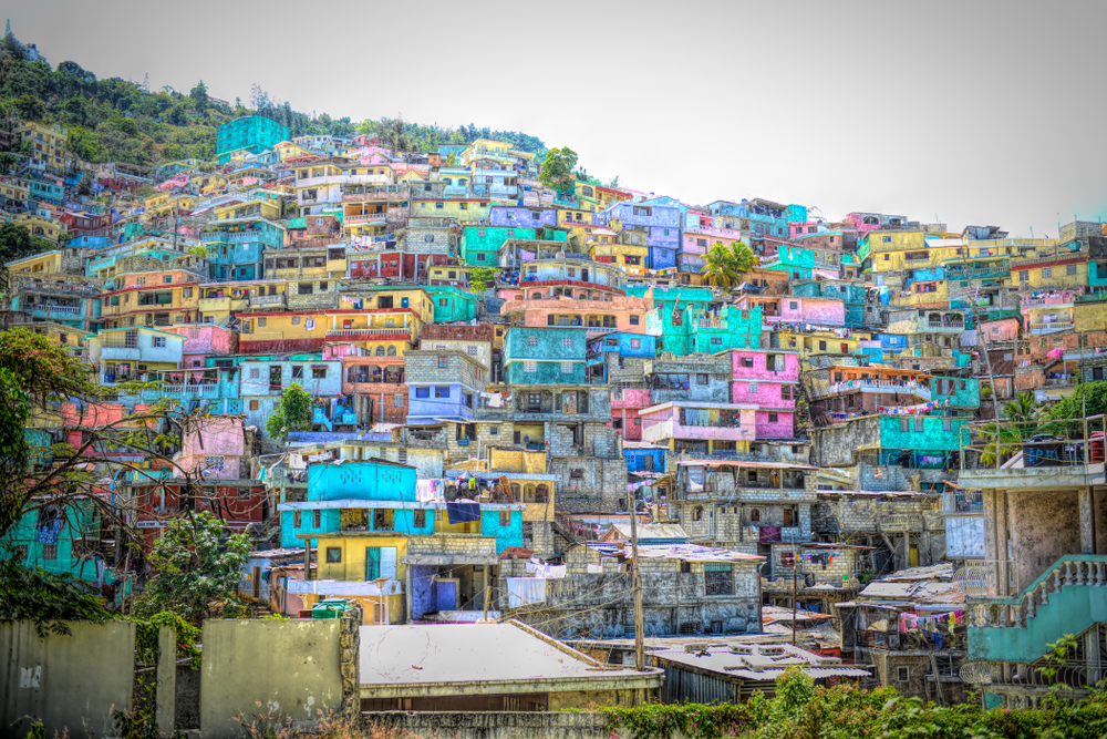 Colorful homes in Port-au-Prince, Haiti.