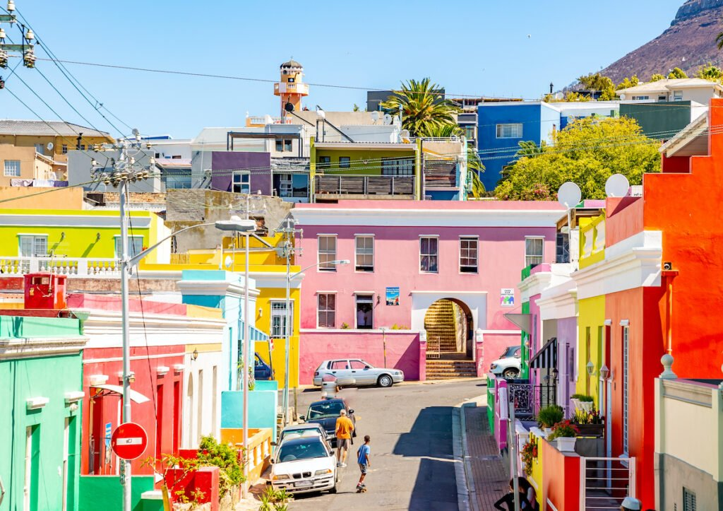 Colorful houses in Bo Kaap, Cape Town, South Africa.