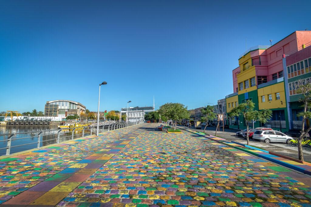 Colorful promenade in La Boca, Buenos Aires, Argentina.