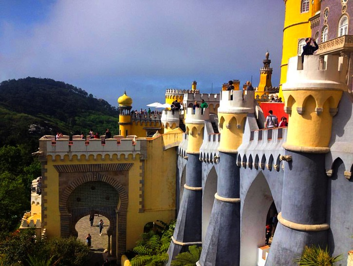 Colorful walls of Pena Palace, Sintra