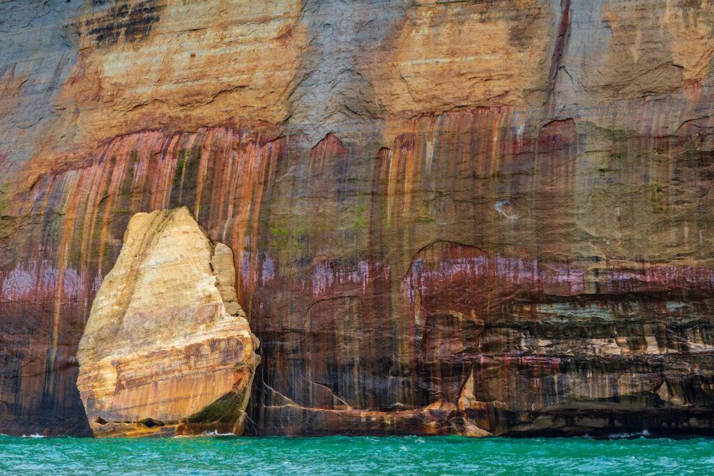 Colors on Pictured Rocks National Shoreline.