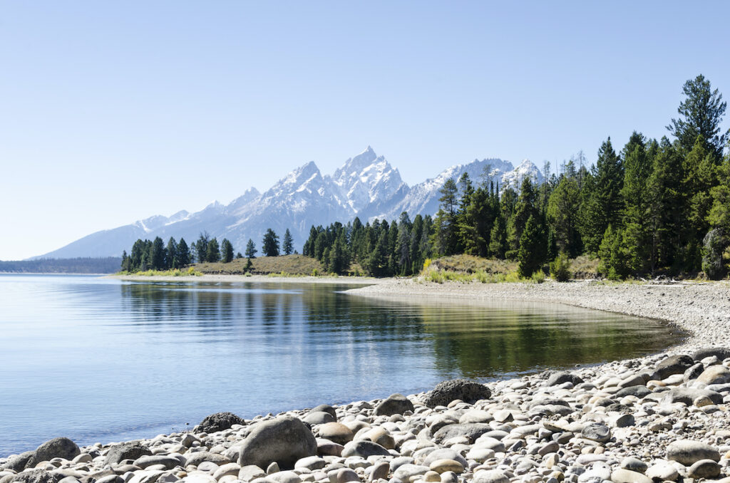 Colter Bay in Grand Teton National Park.