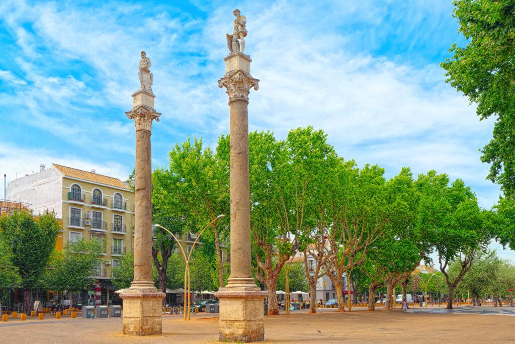Column Alameda de Hercules in downtown Seville