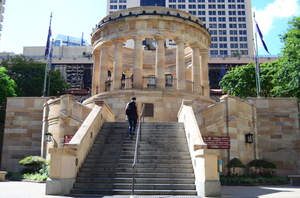 Columns of ANZAC Square in Brisbane