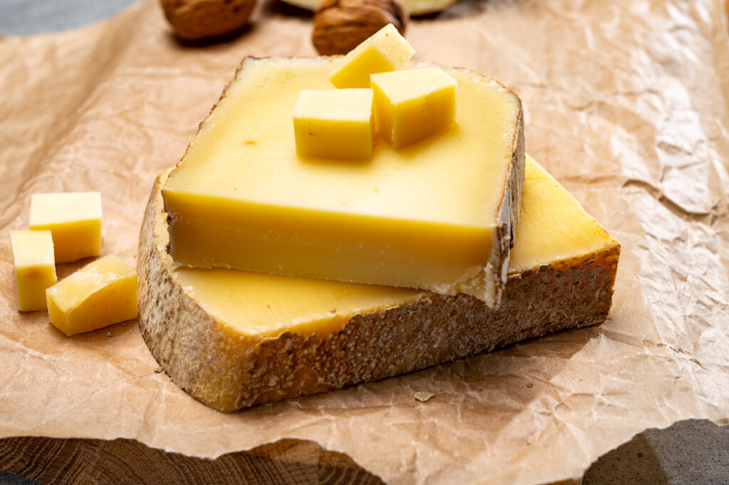 Comte cheese from the Jura region of France.