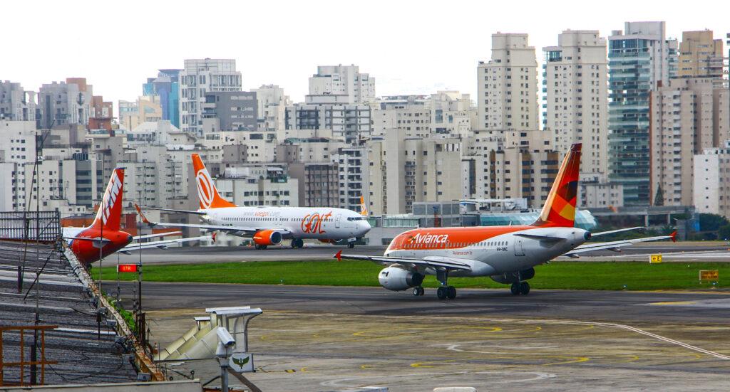 Congonhas Airport in Sao Paulo, Brazil.
