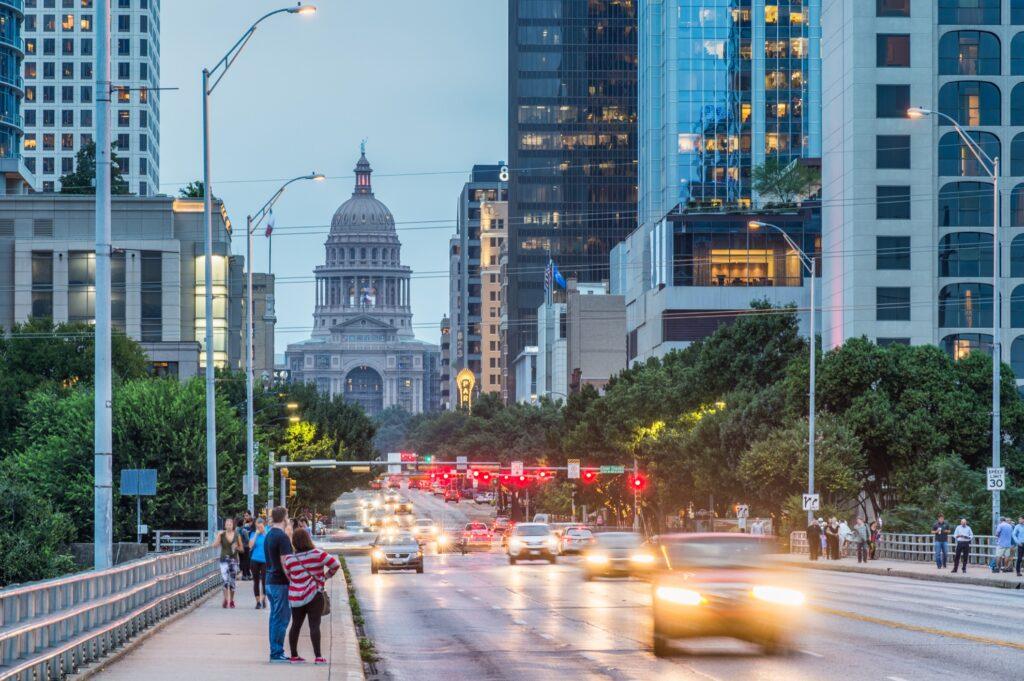 Congress Avenue in Austin.