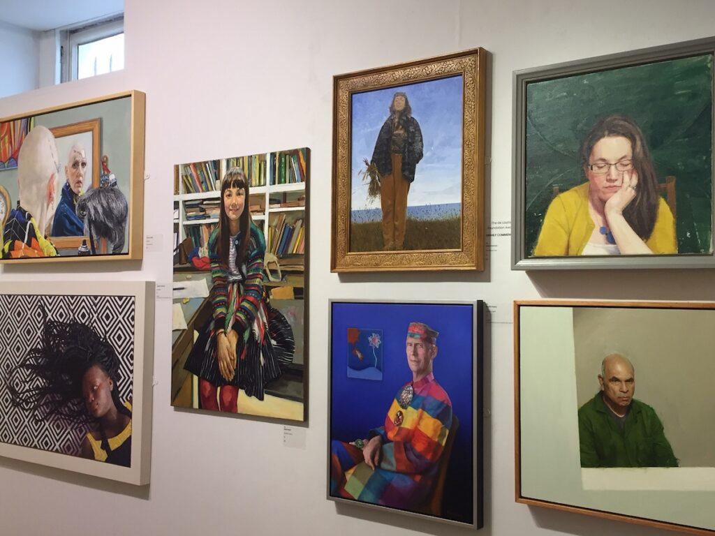 Contemporary art at the Mall Galleries near Trafalgar Square.
