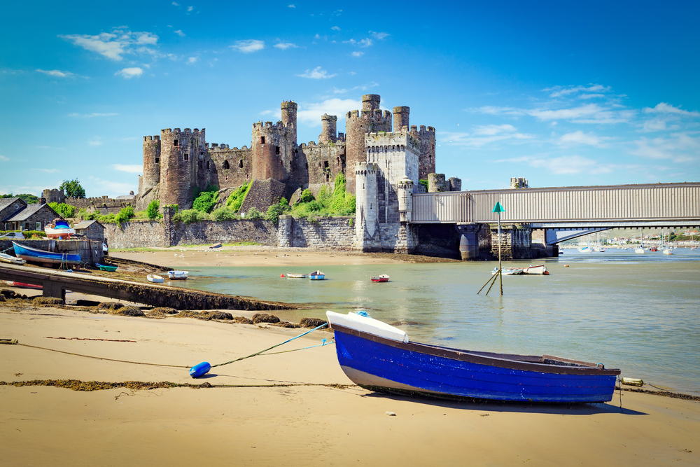 Conwy Castle in Snowdonia National Park.