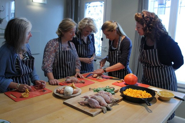 Cooking with Charlotte Puckette.