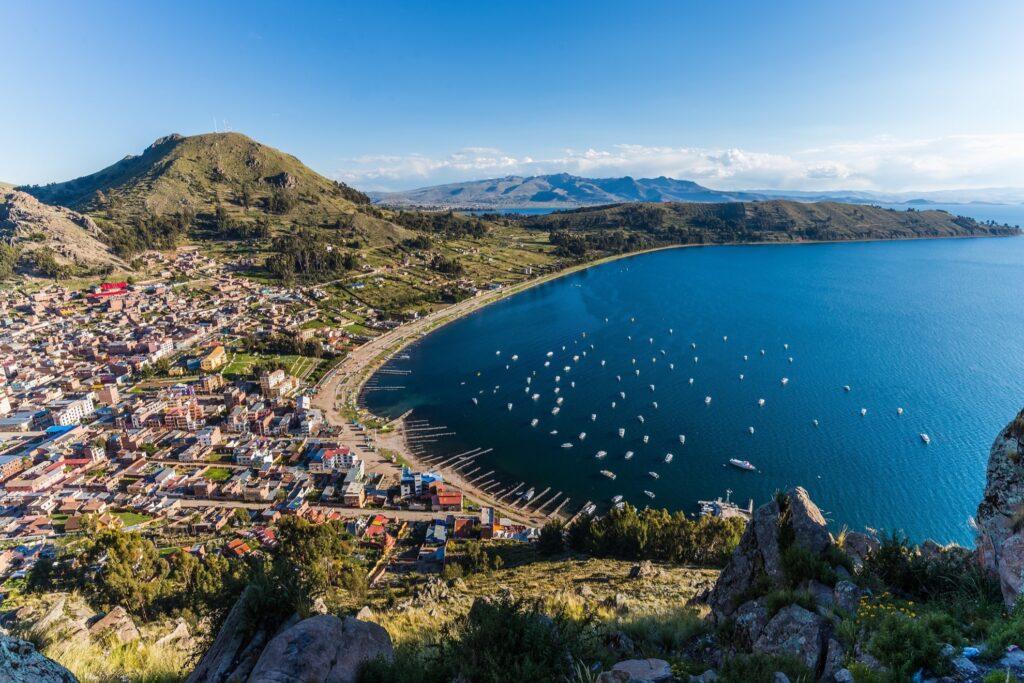 Copacabana on Lake Titicaca in Bolivia.