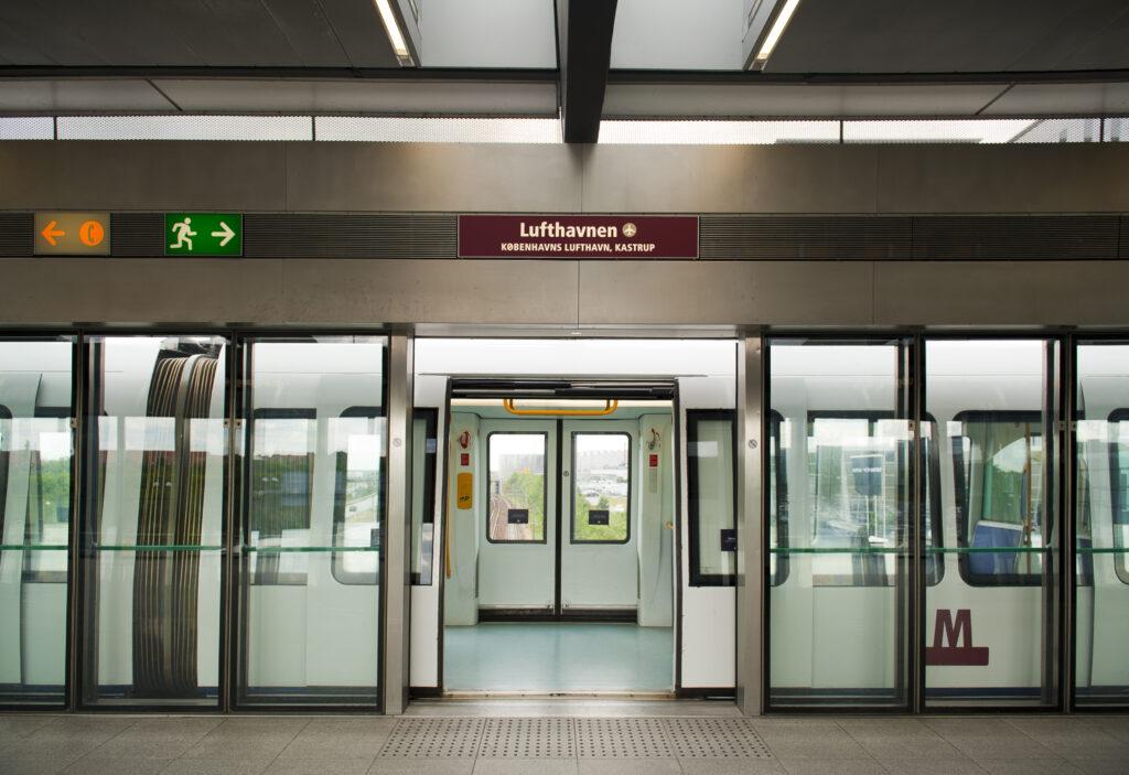 Copenhagen metro stop