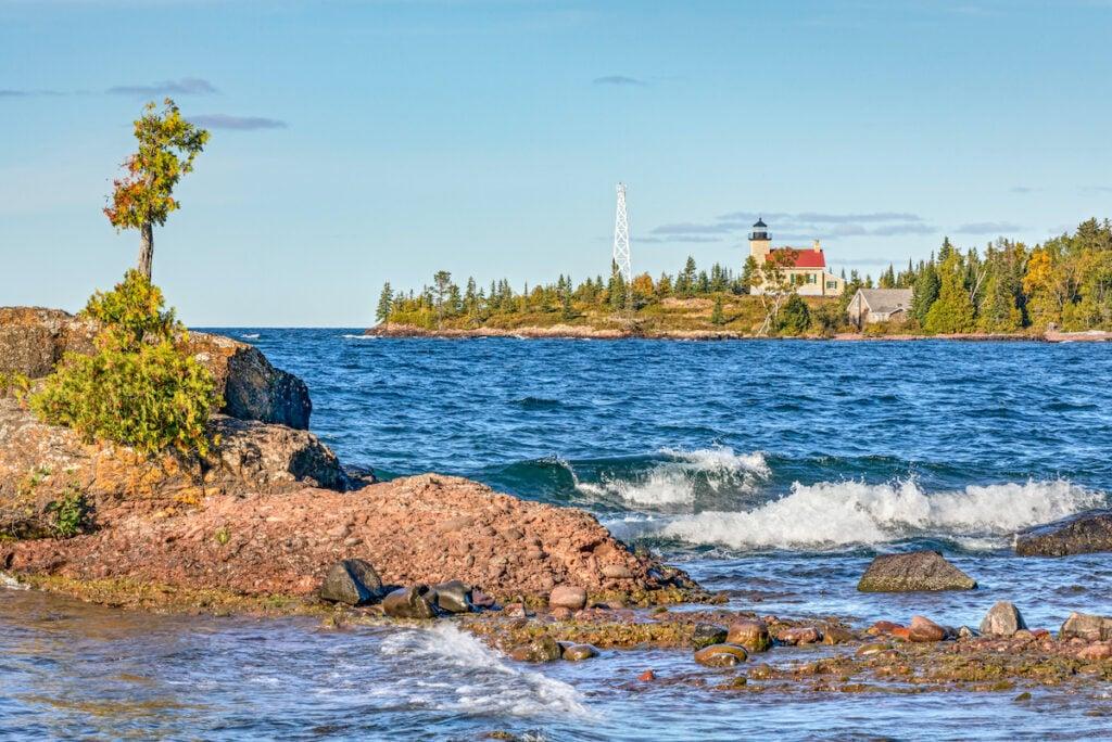 Copper Harbor Light, Lake Superior, Michigan.