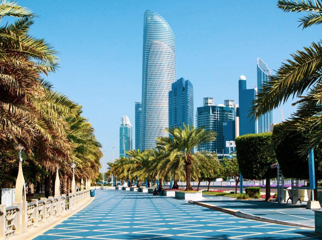 Corniche Road in Abu Dhabi.