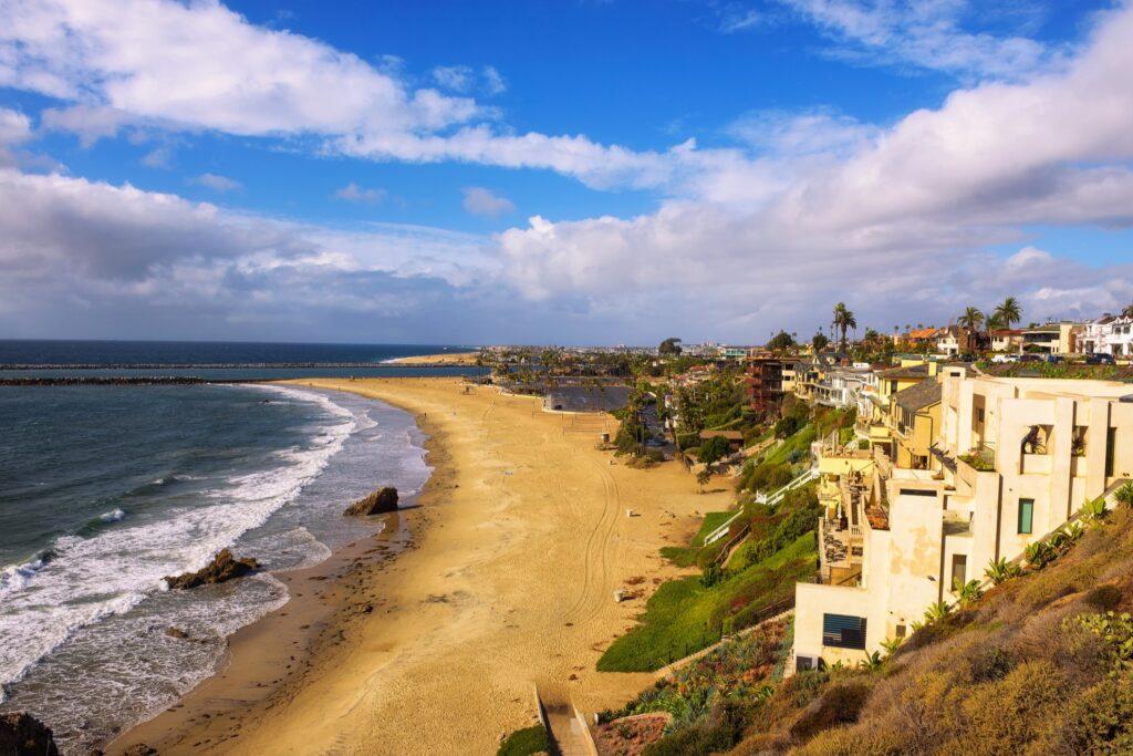 Corona del Mar State Beach in California.