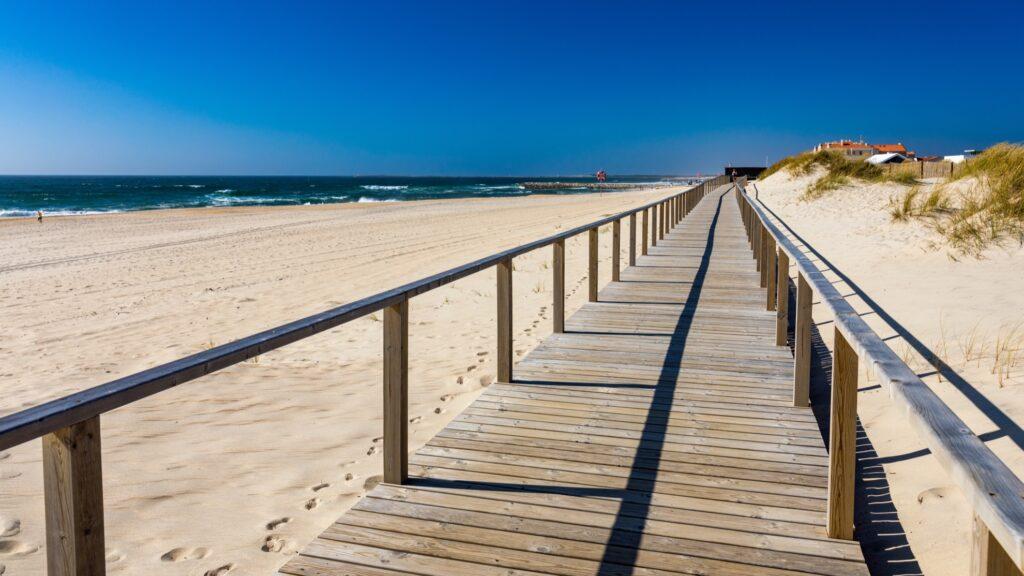Costa Nova Beach in Portugal.