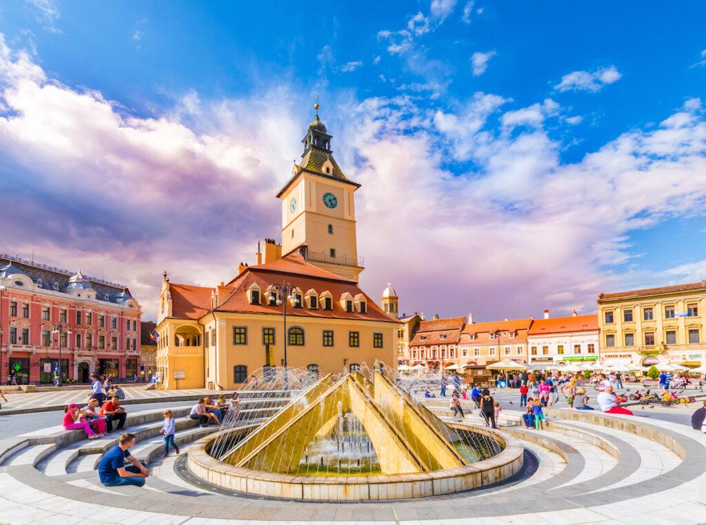 Council Square in Brasov, Romania's old town.
