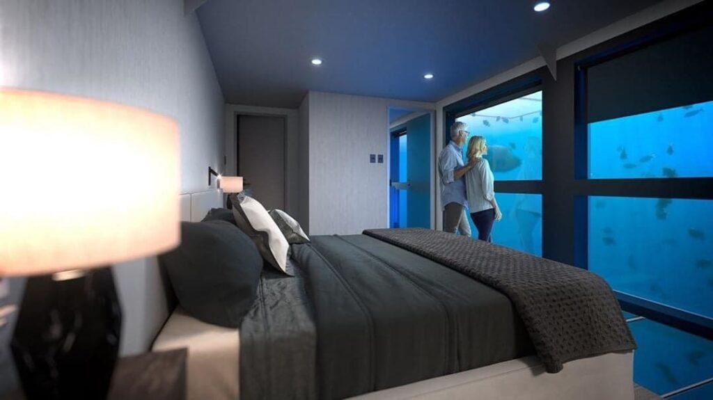 Couple in a Reef Sleep room.