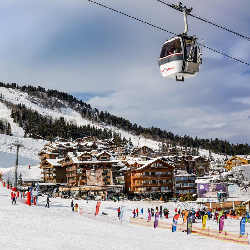 Courchevel, a ski resort in France.
