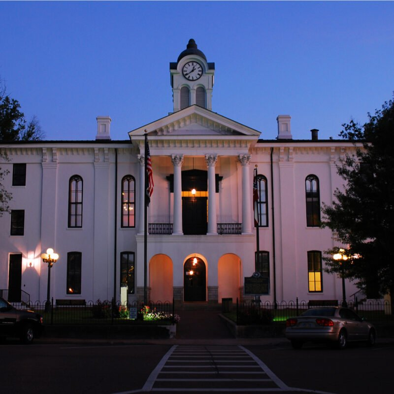 Courthouse in town square, Oxford, Mississippi.