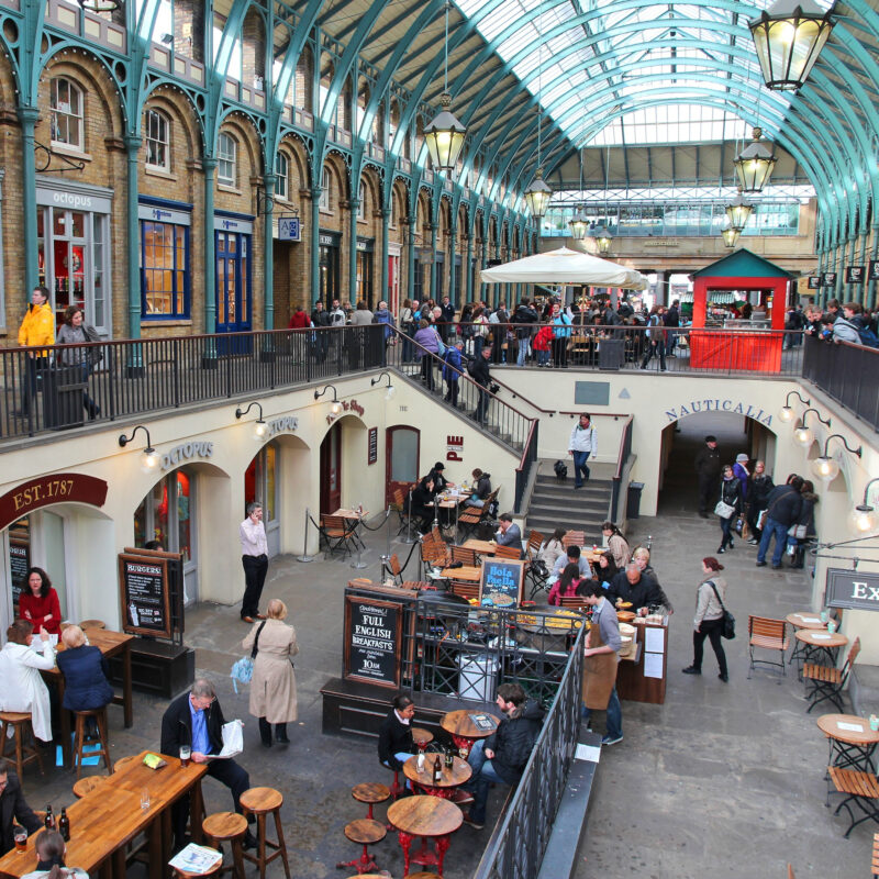 Covent Garden in London, England.