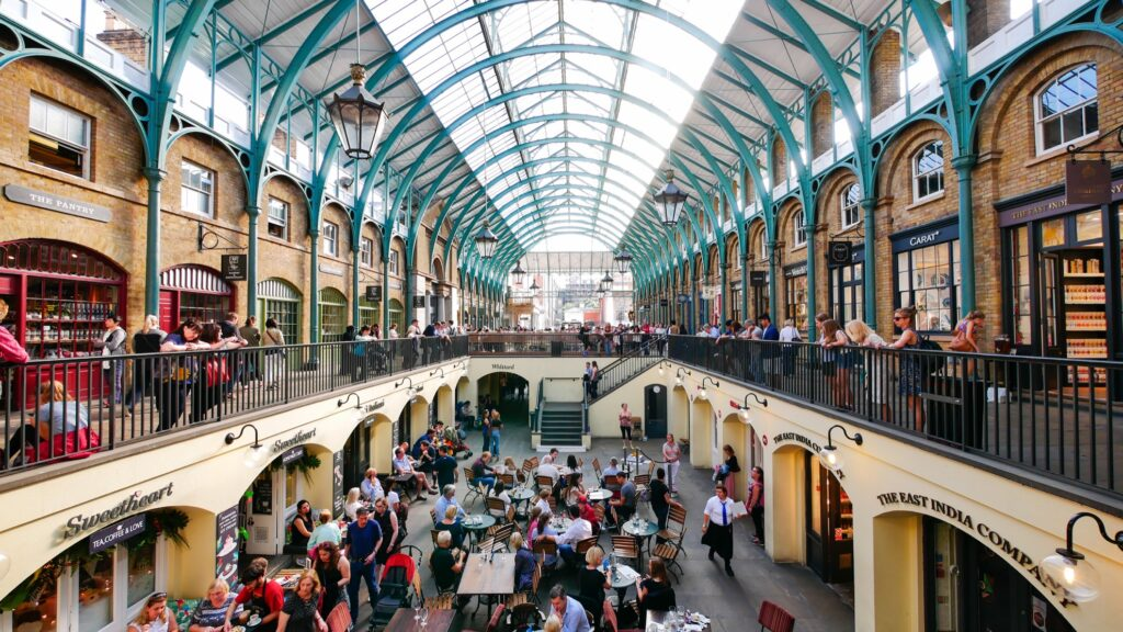 Covent Garden Market in London.
