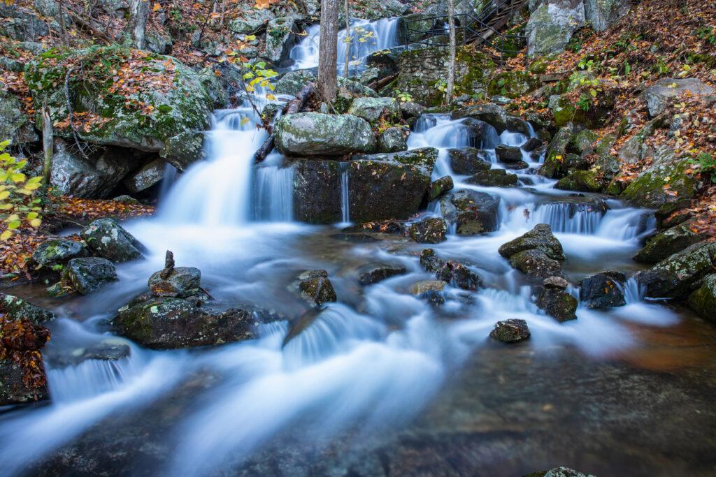 Crabtree Falls in Virginia's Blue Ridge Parkway.