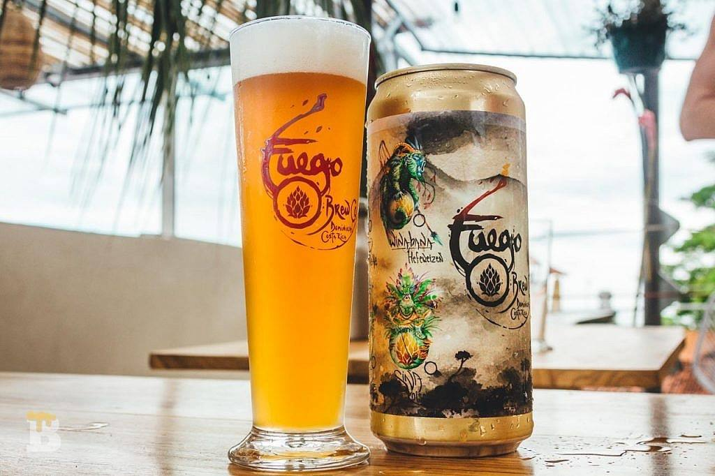 Craft beer from Fuego in Dominical.