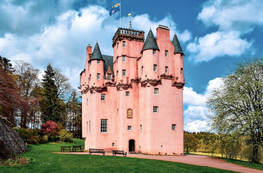 Craigievar Castle in Scotland.