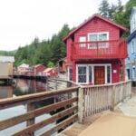 Creek Street in Ketchikan, Alaska.