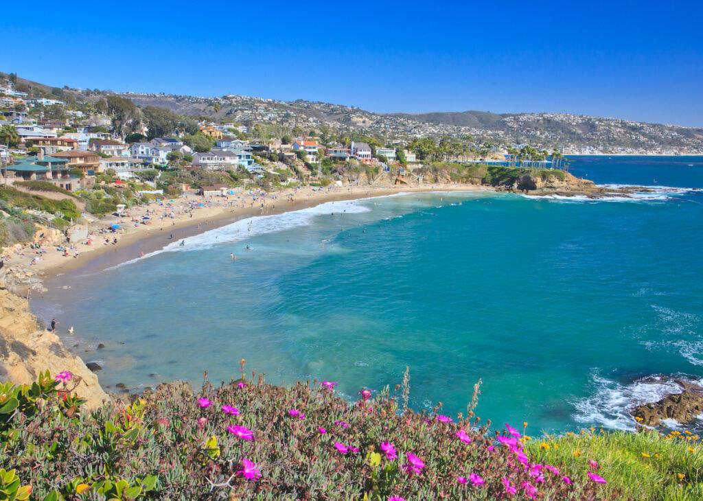 Crescent Bay in Laguna Beach, California.
