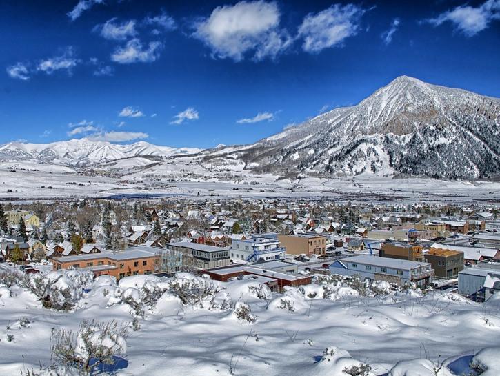 Crested Butte, Colorado in winter