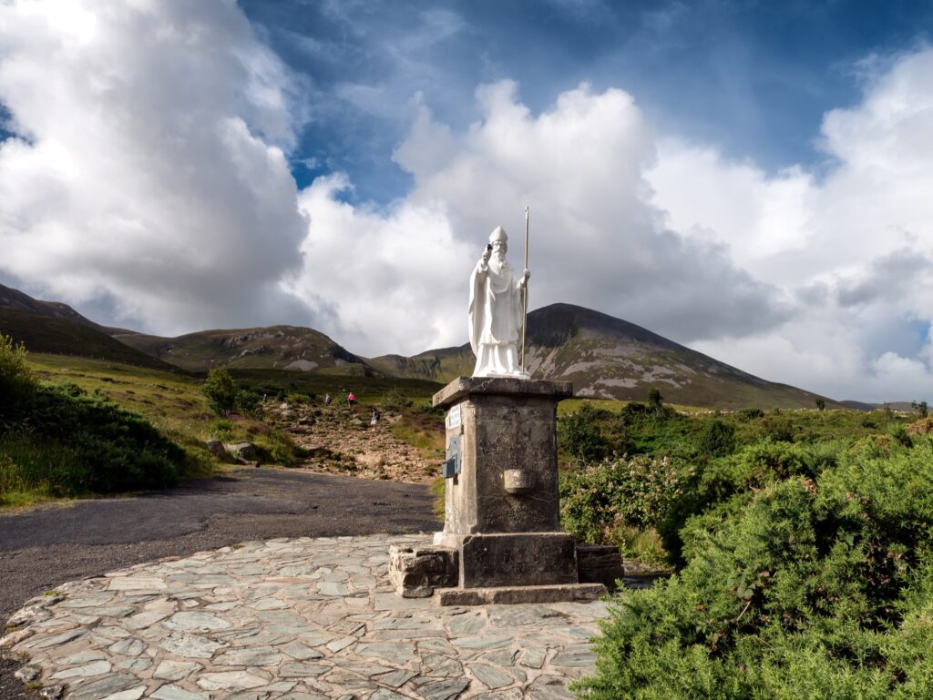 Croagh Patrick in Ireland.