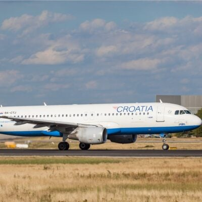 Croatia Airlines plane.