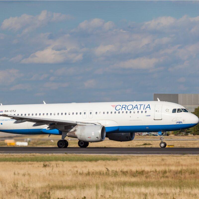 Croatia Airlines plane.