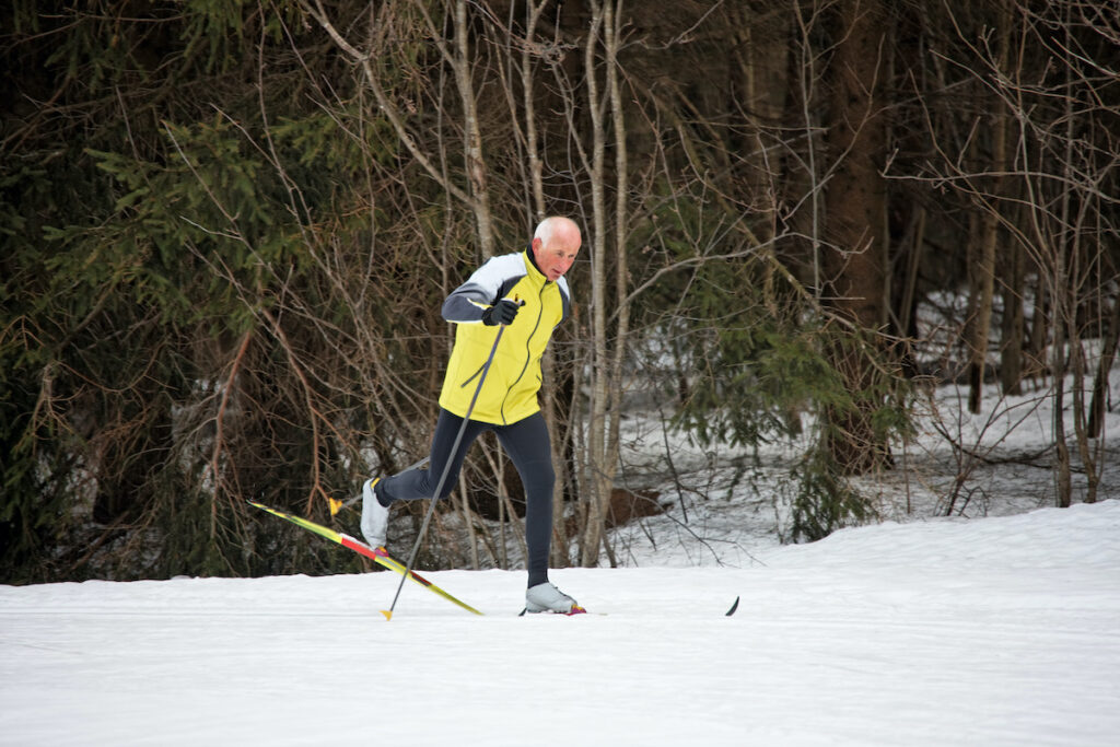 Cross country skiing in Maine.