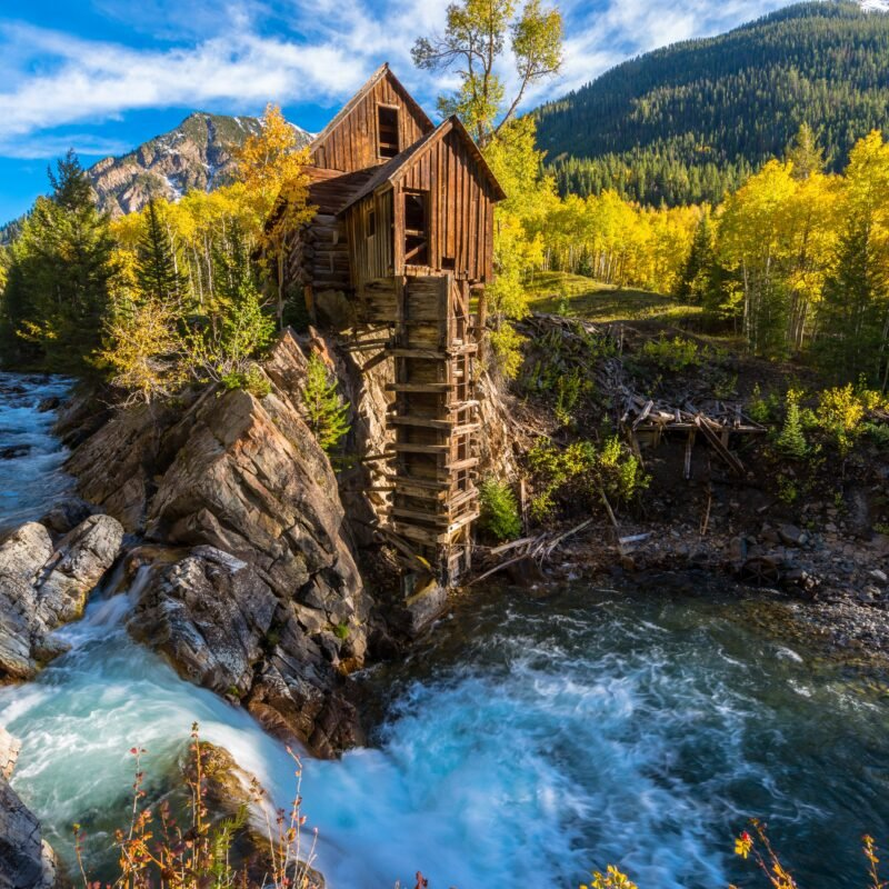 Crystal Mill near Marble, Colorado.