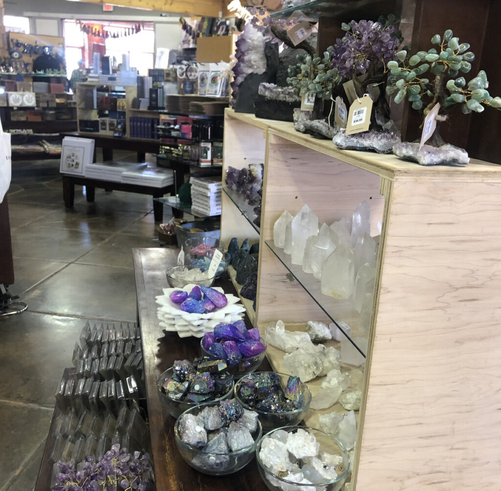 Crystals at Earthbound Trading Company in Sedona.