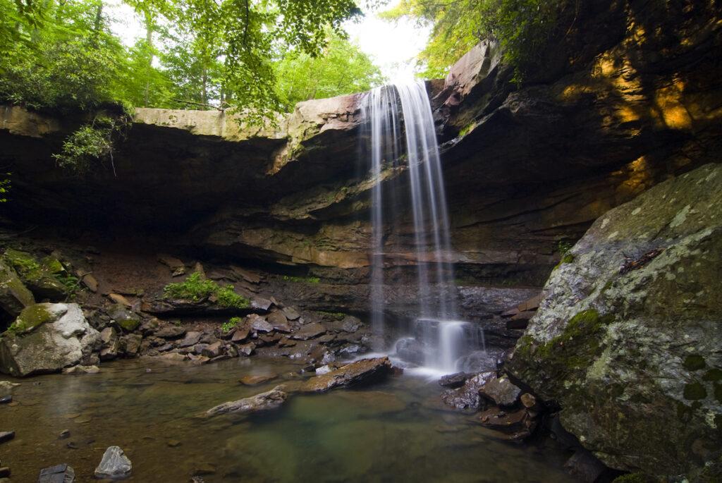 Cucumber Falls in Pennsylvania's Ohiopyle State Park.