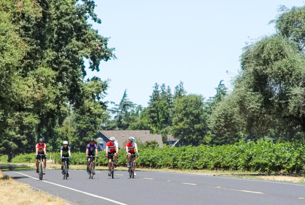 Cycling in Lodi, California.