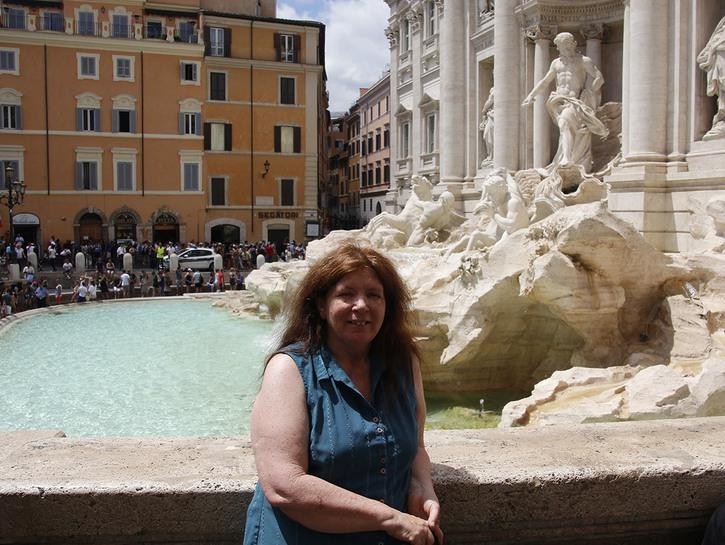 Cynthia at Trevi Fountain.