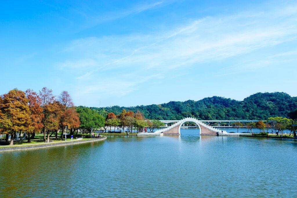 Dahu Park in Taipei, Taiwan.