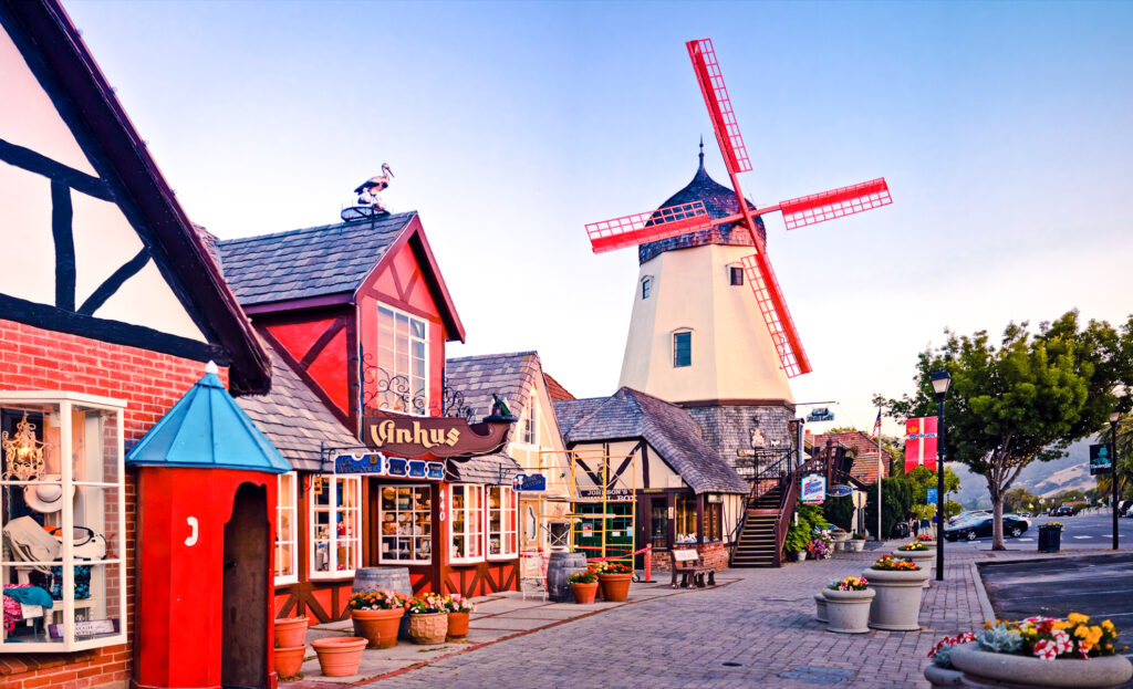 Danish architecture in Solvang, California.