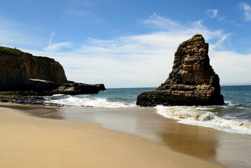 Davenport Beach in California.